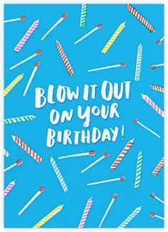 Like the idea of having bday candles in the background, love the colors