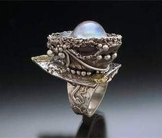 Ring | Hattie Sanderson.  Metal clay