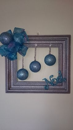 Christmas wreath Door wreath picture frame wreath by KaterinaKatka