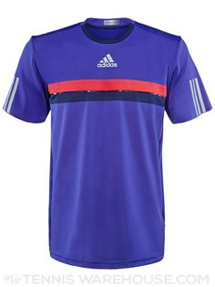 adidas Spring Barricade Chest Stripe Tennis Crew