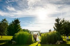 The view from the other side of the Lakeview. Gorgeous sky this day! Chester County, Philadelphia Wedding, The Other Side, Lake View, Beautiful Gardens, Photo Credit, Getting Married, Pond, Golf Courses