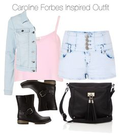 """""""The Vampire Diaries - Caroline Forbes Inspired Outfit"""" by staystronng ❤ liked on Polyvore"""