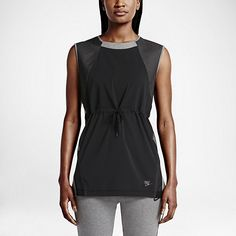 Women's Nike Bonded Running Shirt Grey, Black 726017 091 Nwt Size Small Running Tanks, Nike Running, Active Wear, Athletic Tank Tops, Clothes For Women, How To Wear, Black, Dresses, Grey