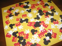 Mickey Mouse Birthday Confetti Icon Disney confetti Party favor 100 pieces. $4.50, via Etsy.