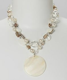 White Shell Pendant Necklace #zulily #zulilyfinds