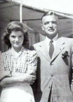 Black Jack John Bouvier and daughter Jackie Bouvier as a young lady.jpg