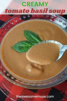 #Sponsored Creamy tomato basil soup is by far one of the simplest and tastiest soup recipes to make. It's especially convenient when you can make it in the Mealthy Multipot and use their new Handblend to make it nice and smooth. Even better? You can easily make this recipe year round as the ingredients are readily available. Easy Italian inspired recipes for the win! #MealthyMoms #Mealthy #Handblend #TomatoSoup #Tomato #Basil #soup