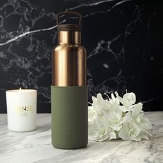 10 Water Bottles You'll Want to Show Off to all of your Friends Cute Water Bottles, Plastic Bottles, Healthy Water, Bottle Design, Stainless Steel Water Bottle, Seaweed, Flask, Aqua, Bronze