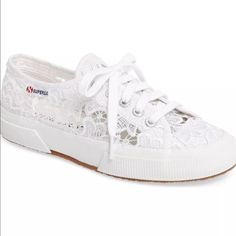 Superga Women'S Macrame Lace Sneakers Size 37.5