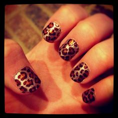 Leopard nails from kayla <3