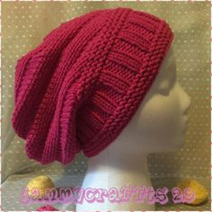 0561823ddad Knitting Hat Hat Slouchy Beanie Hot Pink knit Hat Women hat Women knitted  slouch hat Adult size Fashion Hat Winter Accessories READY TO SHIP