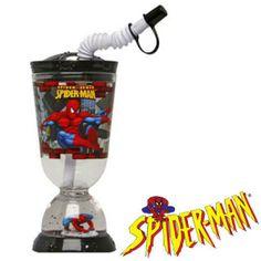 ComprarVaso Base con Pajita Spiderman 275 ml al mejor precio. Vaso infantil con base decorativa y purpurina que le da un diseño tipo copa. Con una capacidad de 275 ml, este vaso con licencia de Spiderman se convertirá en el vaso preferido de los niños, ya que cuenta con imágenes del super heroe Spiderman así como con una original pajita con la que podrán aspirar cualquier tipo de bebida que se ponga en el recipiente. Medidas: 17 x 8 x 8 cm