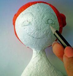 Prepare para pintar e desenhe o rosto