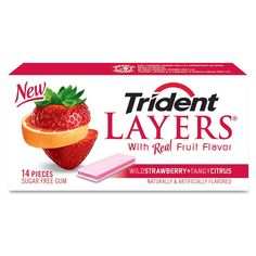 Trident gum, sugar free, the best! My favorite is the pineapple & green apple flavor.