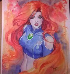 Looks like StarFire from Teen titans Go drawing Starfire Dc, Teen Titans Starfire, Starfire And Raven, Teen Titans Go, Dc Superhero Girls Starfire, Starfire Comics, Comic Book Characters, Comic Character, Comic Books Art