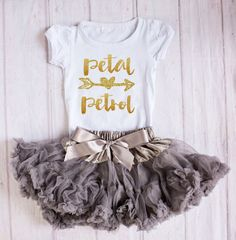 Petal Patrol Outfit Flower Girl Rehearsal by SuriPieCreations Flower Girl Outfits, Flower Girl Gifts, Flower Girls, Dream Wedding, Wedding Day, Wedding With Kids, Friend Wedding, Wedding Designs, Bridesmaid