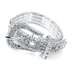 Buckle Silver-26679: SALE: € 10.00   Previous Price: € 20.00 Silver Crystal bukcle design cosmetic Braclet.