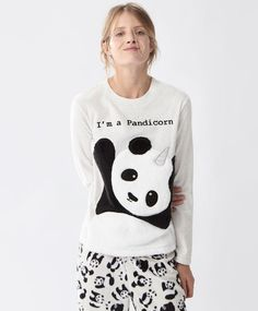 Oysho — T-shirt Polaire Pandicorn (23€)