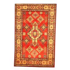 Herat Oriental Afghan Hand-knotted Tribal Kazak Red/ Rug