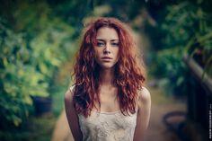 Anna in Greenhouse by Maxim  Guselnikov