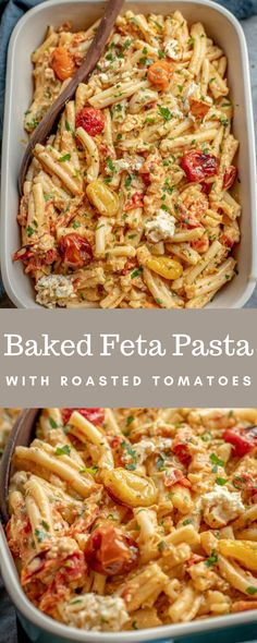 Vegetarian Pasta Recipes, Pasta Dinner Recipes, Veggie Recipes, Cooking Recipes, Healthy Recipes, Chicken Recipes, Feta Cheese Recipes, Italian Dinner Recipes, Pasta Dinners