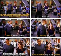 Jackson Avery: You know, I've thought about it and if you wanna send the ultrasound to your mom, that wouldn't be the worst thing. April Kepner: You've told! Jackson: I kind of. April: Who did you tell? Jackson: Stephanie. April: Oh, wow. So after all the crap you gave me this morning, you told your ex-girlfriend? Jackson: It was an accident. April: Okay, uh huh. Jackson: I'm sorry. Grey's Anatomy quotes