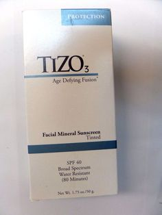 TiZO Solar Protection Formula TiZO3 Tinted SPF 40 1.75oz/50g NEW IN BOX facial #Tizo