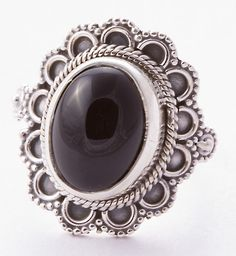 925 Sterling Silver Black Onyx Ring MCR-4009 from Edelsteinschmuck by DaWanda.com