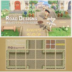 Animal Crossing Pocket Camp, Animal Crossing Game, Path Design, Floor Design, Animal Crossing Characters, City Folk, Motifs Animal, Island Design, Custom Design