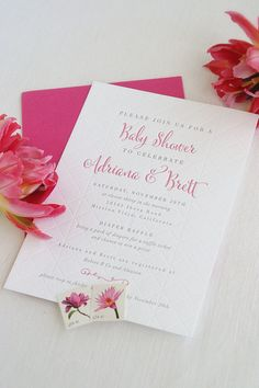 Letterpress Shower Invitations by SweetlySaidPress on Etsy