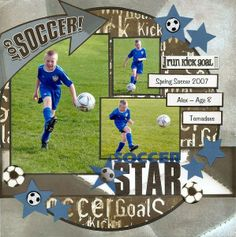 Soccer Star Scrappin Sports by Kshand @Two Peas in a Bucket