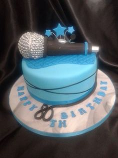 80th Birthday Microphone Cake