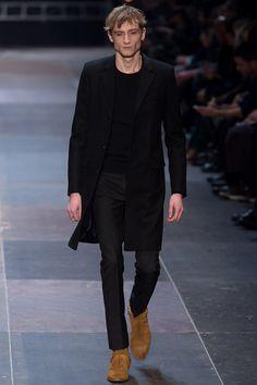 Combining coats and black #Saint Laurent Men Fall 2013