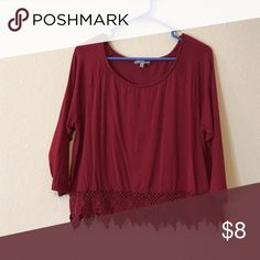 Burgundy shirt Perfect with a flappy hat or to throw on going to the grocery store I love this comfy shirt! Charlotte Russe Tops Blouses