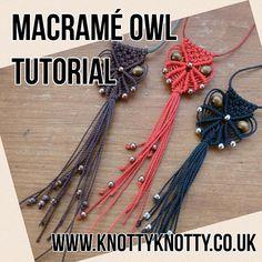 TUTORIAL Macrame Owl Necklace / Macrame Owl DIY / Macrame