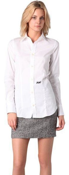 $430 NWT Beautiful DSQUARED2 White Button Down Shirt sz IT 44 / US M #Dsquared2 #ButtonDownShirt