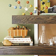 Notched wall shelf