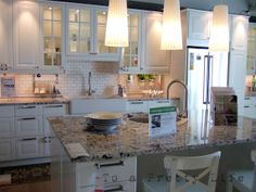 To a Pretty Life: Dreaming at Ikea - Kitchen Designs Ikea Kitchen Design, Kitchen Redo, New Kitchen, Kitchen Remodel, Kitchen Ideas, Kitchen Designs, Farmhouse Remodel, Kitchen Island, Ikea Showroom