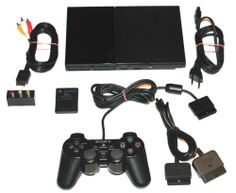 PlayStation 2 Slimline+Alle Kabel+1 Sony Pad+8 MB Memory Card,SCPH-90004