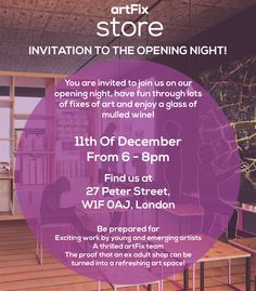 Get a glass of mulled wine and a fix of art!