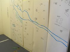 Doing a map for West Leeds Arts Festival with Louise Atkinson - summer 2010