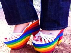 I am pretty sure I had shoes like these at one time. Maybe more of a flip flop