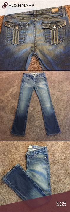 """Paige Jeans Size 29 Paige Cloverdale, Size 29, Inseam 32, Waist 15"""", Rise 8"""", Bootcut 8 1/2 Leg Opening, EUC Paige Jeans Jeans Boot Cut"""