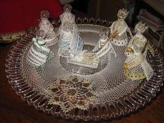 Bobbin Lace Patterns, Crochet Patterns, Christmas Crafts, Crochet Christmas, Crochet Stitches, Lana, Gifts, Portal, Nativity