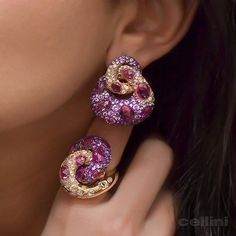 Celebrating #Amethyst Month  Happy February ! 18 karat rose gold earrings and ring, set with amethysts, rose cut diamonds, and pink sapphires.