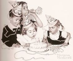 """""""Birthday Party""""   Norman Rockwell"""