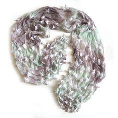 Lavender Bubble dot shibori scarf | Yuh Okano