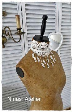Jabot für Schneiderpuppen von Ninas-Atelier auf DaWanda.com
