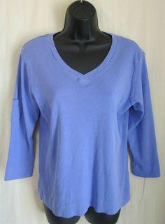 FRESH PRODUCE Women's Peri Blue 3/4 Sleeve V-Neck Top M Medium NEW MSRP $39 #FreshProduce #KnitTop #Casual