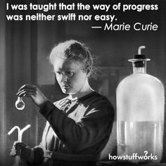 Marie Curie was the first woman to win the Nobel Prize and the only woman to win it twice. She did pioneering research on radioactivity Marie Curie, Most Viral Videos, Science Tshirts, Thinking Day, Iconic Women, Women In History, Don't Give Up, Strong Women, Funny Photos